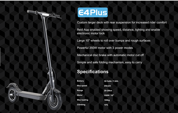 Reid E4 Plus - Top Affordable Electric Scooter