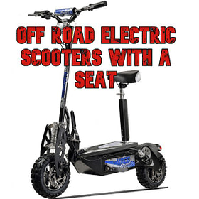 Off Road Electric Scooters With a Seat