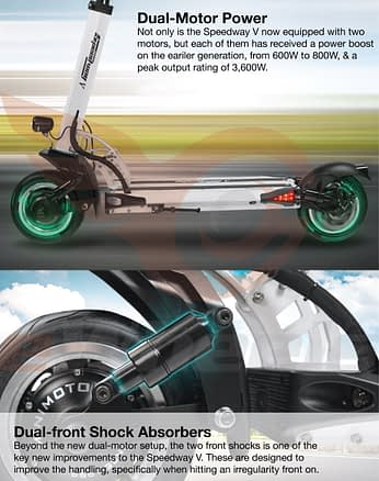 Speedway 5 electric scooter - best electric scooter for climbing hills