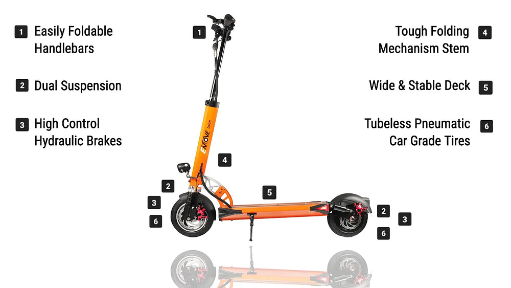 EMOVE Touring The Best Urban Electric Scooter For Long Commutes