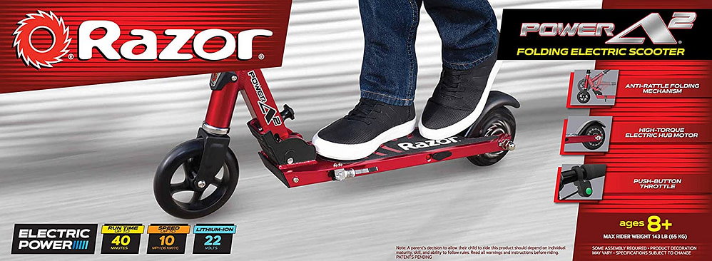 best electric scooter for girls - Razor Power A2 Electric Scooter