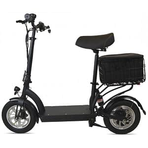 Zipper Seated Electric Scooters For Adults - 350 Watt with bag