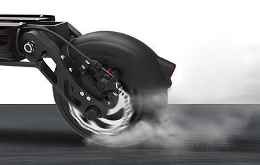 Dualtron Spider - 3000 Watt E-Scooter brakes