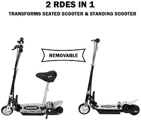 Ridkodg Kids Electric Scooter with Seat