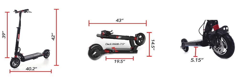 ZERO 9 electric scooter dimensions