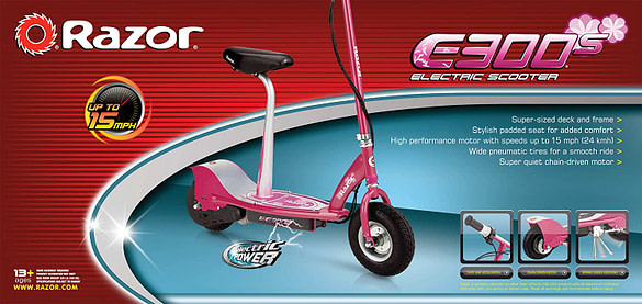 Razor E300S Sit On Electric Scooter for Teens - kids electric scooter with seat