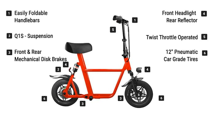 FIIDO Electric Folding Scooter with Seat