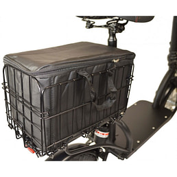 Zipper Seated Electric Scooters For Adults with storage bag