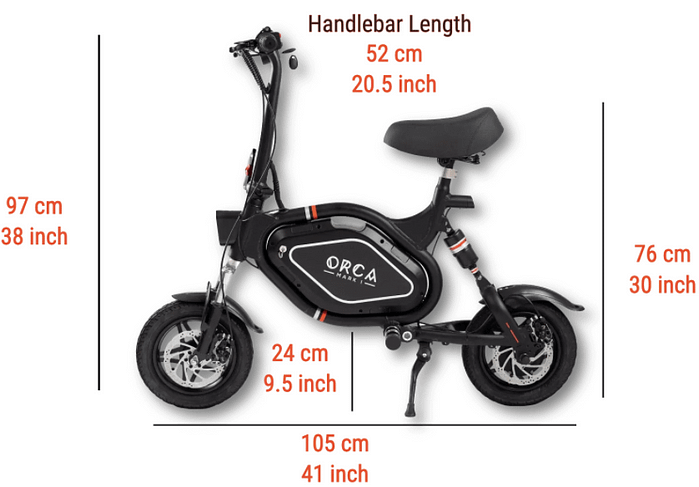 Orca Mark Electric Scooter with Folding Seat