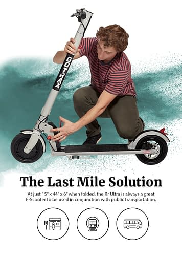 The GOTRAX XR Ultra Folding Electric Scooter for Adults