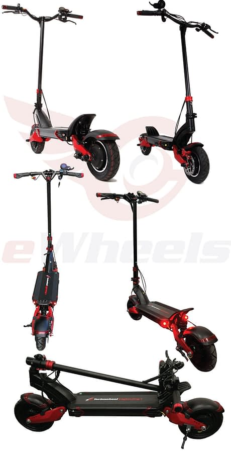 Turbowheel Lightning + Foldable Electric Scooter with Seat for Adults