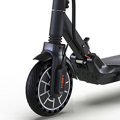 Best budget electric scooter -Hiboy MAX Electric Scooter front shock absorber