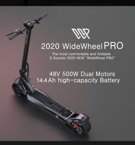 Mercane Widewheel Pro Folding Electric Scooter with Seat