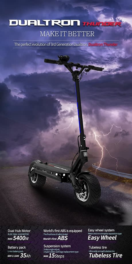 Dualtron Thunder Foldable Electric Scooter with Seat for Adults