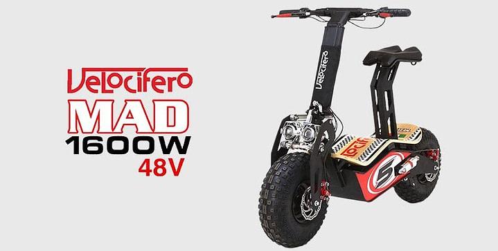 MotoTec Mad 48v 1600w - Big Wheel Off Road Scooter 5
