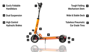 Most Reliable electric scooter - EMOVE Touring